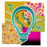 Colourful Creative Idea. Idea blub on a set of colourful creative set of backgrounds royalty free illustration