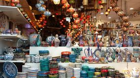 Colourful crockery Stock Photos