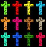 Colourful cross royalty free illustration