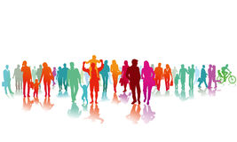 Colourful Crowd. Illustration of a colourful crowd of people Royalty Free Stock Images