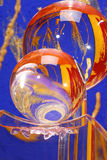Colourful crystal glass balls Stock Photos