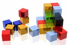 Colourful cubes Stock Photography