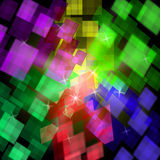 Colourful Cubes Background Means Geometrical Royalty Free Stock Image