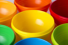 Colourful Cup Toy as Background Uses. Stock Photo