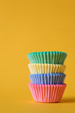 Colourful cupcake cases Royalty Free Stock Images