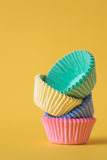 Colourful cupcake cases Stock Image