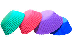 Colourful cupcake holders Stock Photography