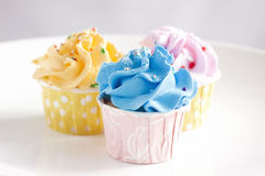 Colourful cupcakes Stock Image