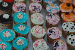 Colourful cupcakes Royalty Free Stock Photography