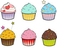 Colourful Cupcakes Royalty Free Stock Photo