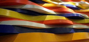 Colourful curve decoration in wall Stock Photo