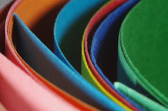 Colourful Curved Cardboard Folders Stock Photo
