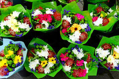 Colourful Cut Flower Bunches Stock Photos