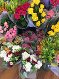 Colourful Cut Flower Bunches Stock Image