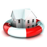 House in a Lifebuoy Stock Photos