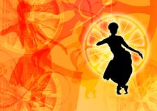 Colourful dance graphic stock illustration