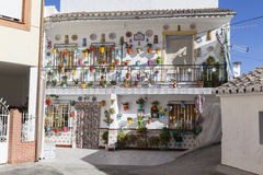 Colourful decorated house Royalty Free Stock Photography