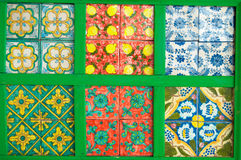 Colourful, decorative tiles. Holiday time. Stock Photos