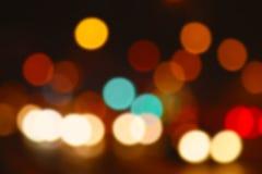 Colourful defocused światła pożytecznie jako tło Obrazy Stock