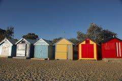 Colourful della casa di barca in spiaggia di Brighton Immagini Stock