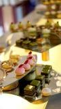 Colourful deserowy bufet Fotografia Royalty Free