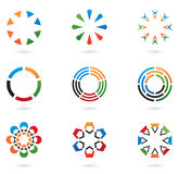 Colourful design elements 02. Colourful abstract icons and design elements 02 Stock Illustration