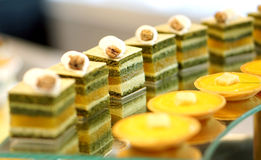Colourful dessert buffet Royalty Free Stock Images