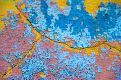 Colourful deteriorated wall Royalty Free Stock Photo