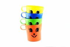 Colourful di vetro di plastica in isolato in Fotografia Stock