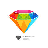 Colourful Diamond Symbol stock illustration