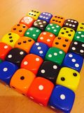 Colourful dice Stock Photography