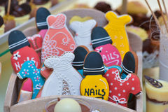 Colourful different shaped gingerbread Royalty Free Stock Image