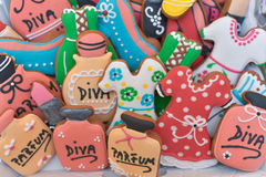Colourful different shaped gingerbread Stock Photos