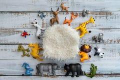 Colourful digital newborn background with animals