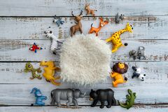 Free Colourful Digital Newborn Background With Animals Royalty Free Stock Image - 176295476