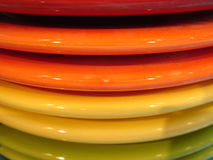 Colourful Dinner Plates  Stock Images