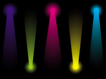Colourful disco lightings Royalty Free Stock Photos
