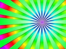 Colourful Dizzy Striped Tunnel Background Shows Futuristic Dizzy Stock Image