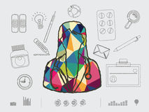 Colourful doctor. Vector illustration of colourful doctor Royalty Free Stock Photography