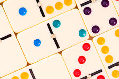 Colourful dominoes Royalty Free Stock Images