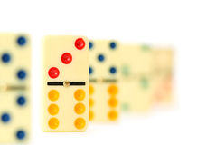 Colourful dominoes isolated Stock Image