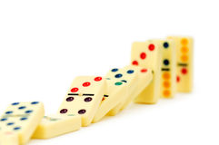 Colourful dominoes isolated Royalty Free Stock Photos