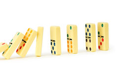 Colourful dominoes isolated Royalty Free Stock Photo