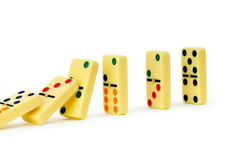 Colourful dominoes isolated Stock Photos