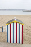 Colourful Donkey Ride beach hut Stock Photography