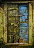 Colourful door at cherrapunjee town Stock Photo