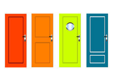 Colourful doors Royalty Free Stock Images