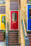 Colourful doors Stock Images