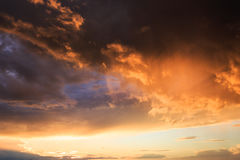 Colourful dramatic sunset clouds background, sky, cloudscape Royalty Free Stock Photos