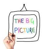 Colourful drawing of the big picture Stock Image